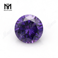 Wholesale Zircon Stone Price Round Brilliant Cut 1.0 Amethyst CZ Stone