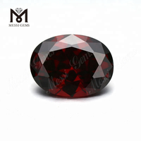 Wholesale Garnet CZ Oval Faceted 10 x 12 mm loose Cubic Zirconia Gemstone