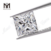 square princess cut loose stone moissanite diamond