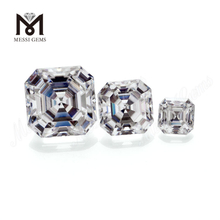 Color play or fire Loose gemstone VVS White Asscher cut Moissanite