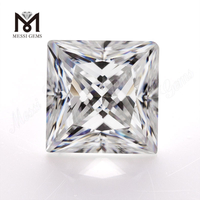 Wuzhou VVS moissanite diamond white Square Princess cut moissanite for Jewelry making