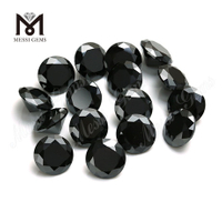 Loose small size moissanite diamond 1-3mm round brilliant cut black diamond moissanite price