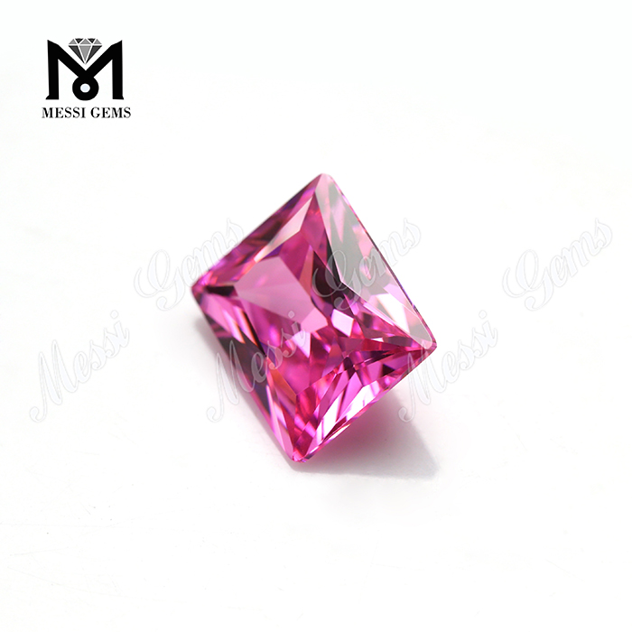 Factory Price Big Size 10*12mm Pink Cubic Zirconia Loose Stone