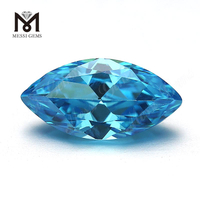 loose Gemstones Marquise cut 6x12mm Aquamarine cubic zirconia