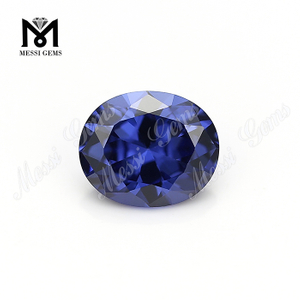 Synthetic cheap price 8x10mm tanzanite oval cut cubic zirconia stone