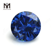 High Quality round Shape 8.0mm Blue topaz CZ Cubic Zirconia Stone Price