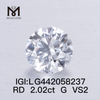 2.02ct G VS2 Lab Grown Diamonds Round Cut IGI diamond