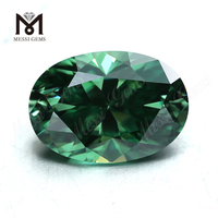 loose gemstones jewelry making 10*12 green oval moissanite stone