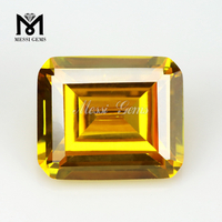 11x13mm octagon yellow cz gemstone cubic zirconia gemstone