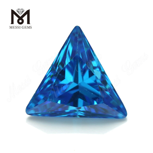 Aqua marine triangle shape cubic zirconia stones 12x12mm CZ loose gems