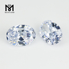Top Quality Machine Cut Cubic Zirconia White Oval Shape CZ Pave Beads