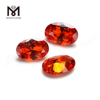 Wholesale Orange CZ Oval 4 x 6 mm Loose Cubic Zirconia Stone
