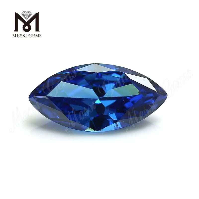 High Quality marquise Shape 7x14mm Blue topaz CZ Cubic Zirconia Stone Price