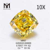 0.705ct FIY lab grown diamond Cushion cut SI2