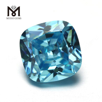 Messi wholesale gemstones Cushion cut Aquamarine cubic zirconia