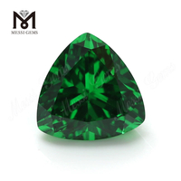 Wholesale Price Trillion Cut 10x10mm Green Cubic Zirconia Loose CZ Stone