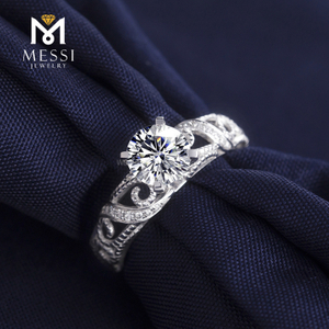 14k 18k white gold engagement 1Carat VVS DEF moissanite ring wedding ring Customized