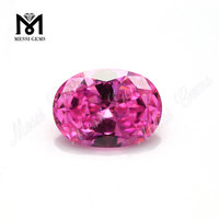 Wholesale Machine Cut Oval 10 x 8 mm Pink CZ Loose Cubic Zirconia Stone