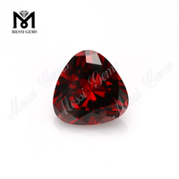 Factory price top machine cut 12mm red garnet cubic zirconia