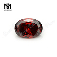 Wholesale Machine Cut Garnet 13 x 18mm Oval Cubic Zirconia Stone