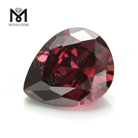 Wholesale Loose pear Shape 10 x 12mm CZ rhodolite Cubic Zirconia Stone