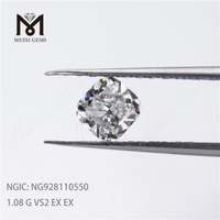 1.08CT EX EX Brilliant Cut G VS2 White CVD diamond Synthetic lab created diamond stone