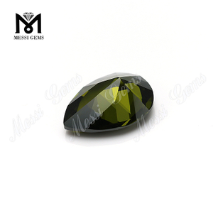 Pear cut 8x12mm Top quality Olive cubic zirconia in loose gemstones