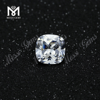 wholesale white cushion cut 14mmx14mm loose cubic zirconia stone