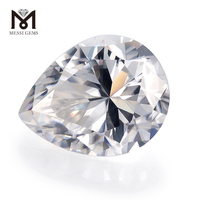 Synthetic top quality pear 8x12mm VVS white loose moissanite stones