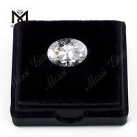 Wholesale price synthetic white color loose 7x5 mm oval cut moissanite