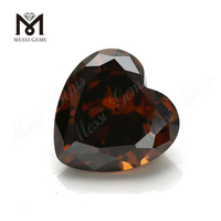 Loose heart Cushion 10*10mm CZ Cubic Zirconia Stones Prices