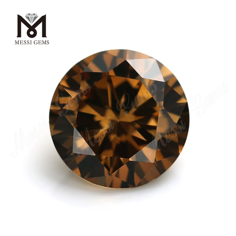 Factory price synthetic cubic zirconia gemstone round cut 8mm offee cz