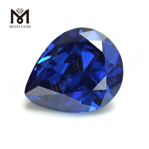 High Quality pear Shape 10x12mm Blue topaz CZ Cubic Zirconia Stone Price