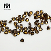 4x4mm trillion cut loose brown color cz gemstone