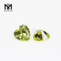 Loose Gemstone Heart cut 5X5mm Color play or fire peridot cubic zirconia
