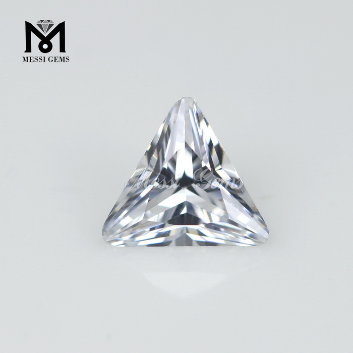 Wholesale Price Triangle Cut 6.5x6.5mm white Cubic Zirconia Loose CZ Stone