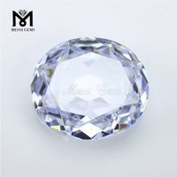 Factory Price Big Size CZ White 32 x 36mm Oval Cubic Zirconia Stone