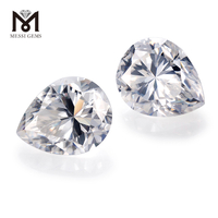 Factory 10*12mm Loose gemstones color play or fire Pear Moissanite