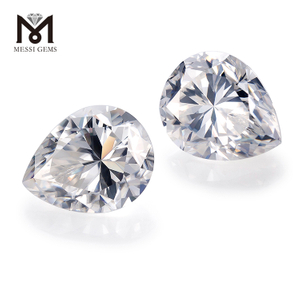 Wholesale Loose gemstones color play or fire Pear Moissanite price per carat