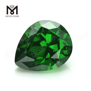 4*6 green pear shape loose gems artificial cubic zirconia