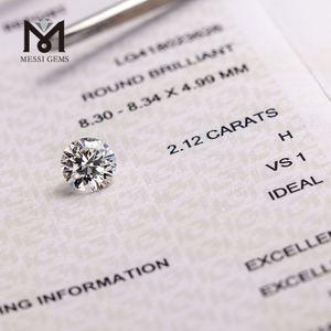 2.12ct H/VS1 3EX IGI certificate synthetic diamond for making ring factory wholesale lab grown diamond