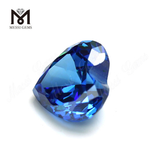 High Quality heart Shape 9x9mm Blue topaz CZ Cubic Zirconia Stone Price