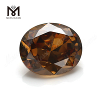 Factory price synthetic cubic zirconia gemstone oval cut 12x14mm offee cz