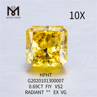 0.69ct FIY lab grown diamond VS1 Radiant cut