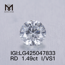 1.49 carat I/VS1 3VG lab grown diamond Round