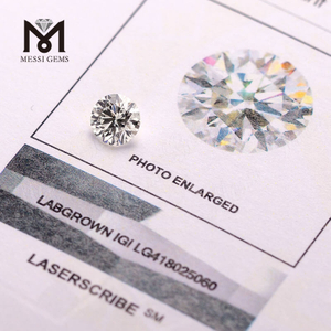 wholesale price1.24carat H VVS2 IDEAL white synthetic lab grown loose CVD diamond