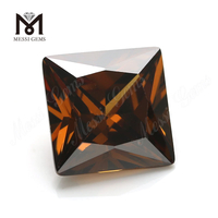 Factory price synthetic cubic zirconia gemstone square cut 10x10mm offee cz
