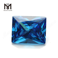 Synthetic goold quality sapphire baguette cut 9x11mm wholesale cubic zirconia price