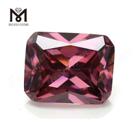 Wholesale machine cut 8x10mm octagon rhodolite loose colored cubic zirconia stone