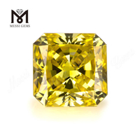 1.04ct Lab Grown Loose Radiant Synthetic Hpht Diamond Good Fancy Vivid Yellow Color Cut